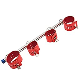 Bondage Slave Spreader Bar Handcuffs Sports Tools, Stainless Steel Exercise Tool Wrist & Ankle Cuffs Bondage Set Rehabilitation Physical Therapy Tool for Men & Women