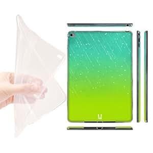Head Case Designs Aqua Green Neon Rain Ombre hard Gel Back Case Cover for Apple iPad Air 2