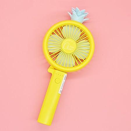 GTVERNH Creative Cute Usb Folding Charging Fan Student Portable Hand-Held Mini Fan Yellow