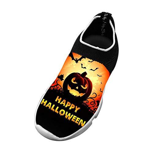 Happy Halloween 3D Printing Children's Slip-on Flyknit Outdoor Sport Shoes