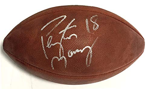 Football Autographed Duke Nfl Official - Peyton Manning Colts Broncos Autographed Signed Official NFL Duke Football Autograph Memorabilia PSA/DNA COA