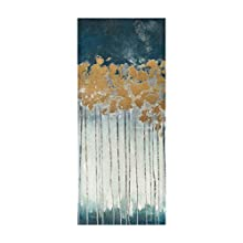 Madison Park Midnight Forest Wall Art Hand Embellished Abstract Stretched 3 Piece Set Canvas Painting Living Room Décor Gold