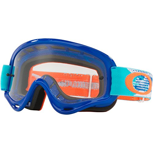 Oakley XS O Frame MX Treadburn Org Blue with Clear unisex-child Goggles (Blue, Small), 1 - Goggles Kids Oakley