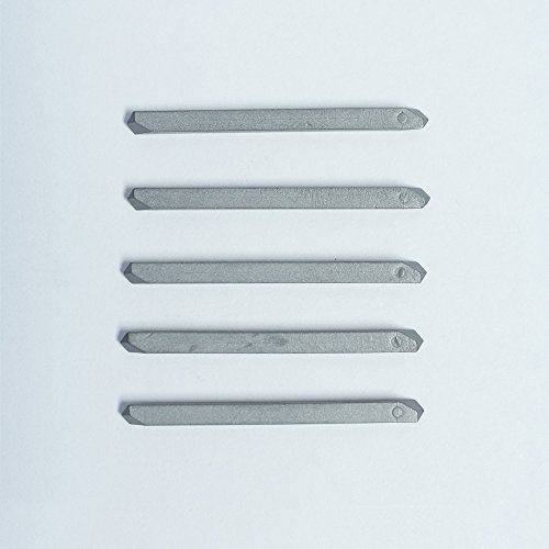 "5 Pack: 1/8"" Double Sided Solid Hexagon Tip Carbide Drill Bit - For Fastening Aluminum Drives"