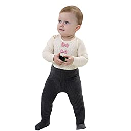 Taiycyxgan Unisex Baby Kids 1-10T Knit Leggings Stocking Cotton Tights Pants 3 Pack 9-10 years