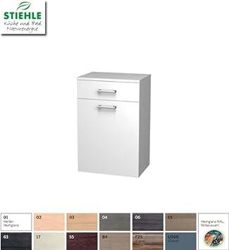 Stiehle Bad Unterschrank 50 Cm Mit Waschekorb Und Schublade Amazon