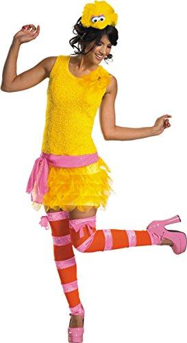 Big Bird Sassy Costume - Large - Dress Size 12-14 (Homemade Bird Costumes For Adults)