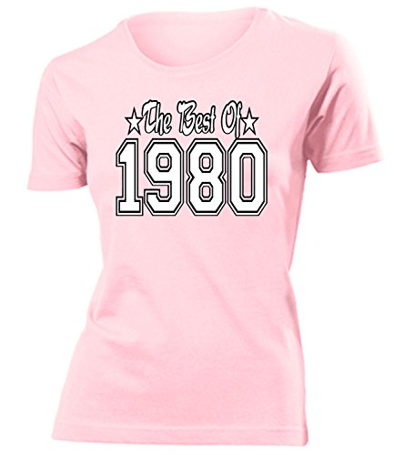 THE BEST OF 1980 - DELUXE - Birthday mujer camiseta Tamaño S to XXL varios colores Rosa