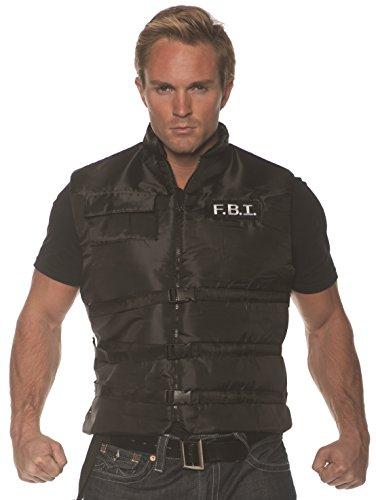 Underwraps Men's FBI Costume Vest, Black, One Size]()