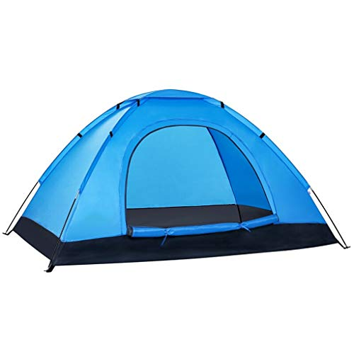 Tents Outdoor Waterproof Tent, Outdoor Leisure Camping Breathable Tent, Beach Family Party, Blue Family Camping Tents