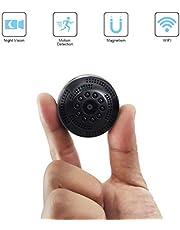 QZT Mini Cámara de Vigilancia, Bolsillo Cámara IP para iPhone Android, Micrófono Pequeño Portátil Cámara para Interior/Exterior En Vivo, Video, Grabación. …
