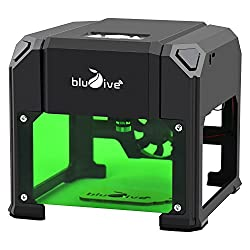 1500mw Laser Engraver Printer,Blu7ive Mini USB DIY Laser Engraving Cutting Machine with 3.15x3.15 Inches Large Engraving Area , Wood Burning Tool for PC Windows 97/03/7/8/10/XP System