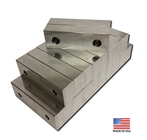 """VJ-6A060207M-10 - MACHINED ALUMINUM VISE SOFT JAWS 10 PACK FOR A 6"""" VISE L=6 x H=2 x W=.75"""