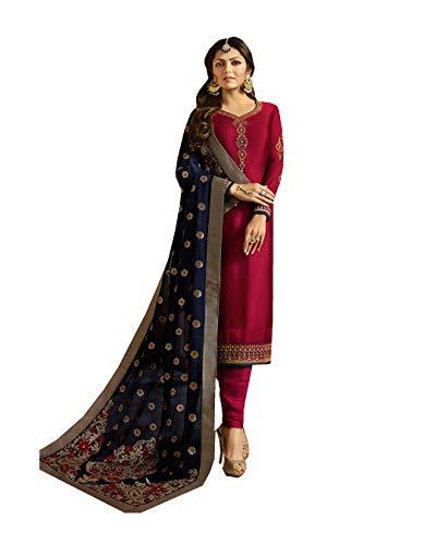 Pakistani Fashion Designers - Indian/Pakistani Fashion Salwar Kameez for Women (Red, MEDIUM-40)