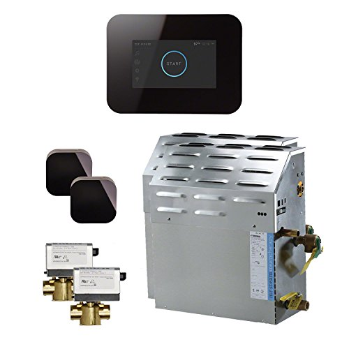 Mr Steam S4C1AI3BK - eSeries 20kW Steam Bath Generator at 240V with iSteam 3 Touch Screen Control in Black with matching AromaSteam iSteam steam head. For generator models MS90E to MSSUPER6E. (Kw Steam 20 Generator)