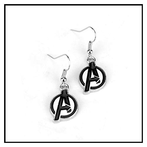 Primary Earrings Logo (Earring Movie Jewelry The Marvel Avengers Alliance Earrings Girl Logo A Initial Drop Pendant Gift)