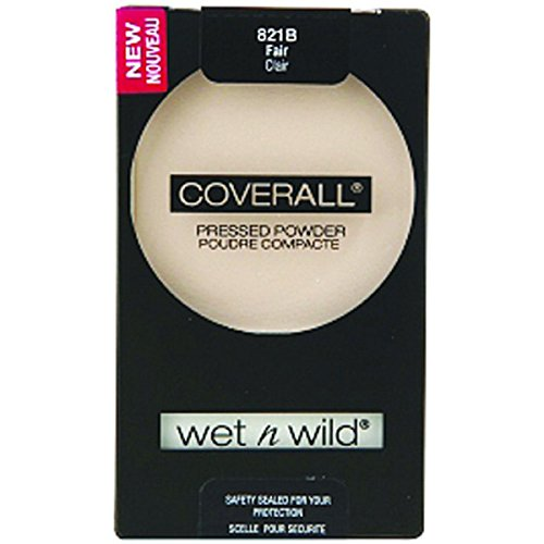 Wnw Coverall 821b Pwdr Fa Size .26oz Wet N Wild Coverall Pressed Powder Fair 821b (N Coverall Wild Wet)