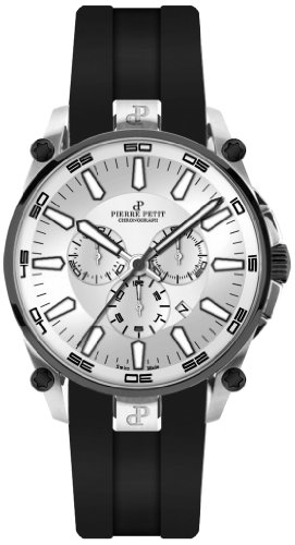 Pierre Petit Men's Quartz Watch Le Mans P-817B with Rubber Strap