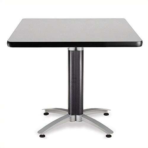OFM KMT36SQ-GRYNB Square Multi-Purpose Table, Metal Mesh Base, 36'', Gray Nebula by OFM