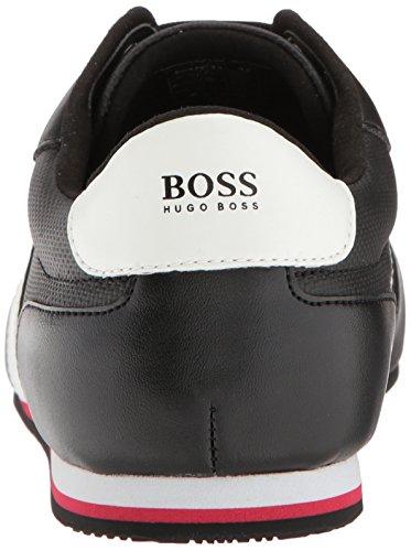 Accendino Boss Capo Green Mens Accendino Sneaker In Canvas Rivestito A Basso Profilo Nero