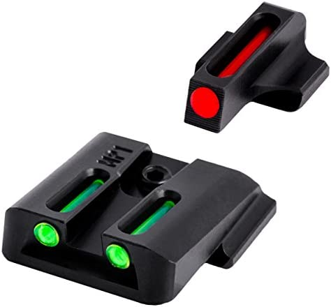 TRUGLO Fiber-Optic Front and Rear Handgun Sights for Smith & Wesson Pistols