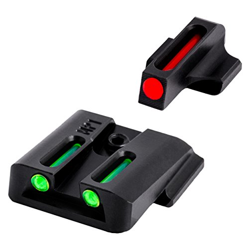 TRUGLO Fiber-Optic Front and Rear Handgun Sights for Smith & Wesson M&P Pistols, S&W M&P (Including Shield & .22 Models, excluding .22 Compact/C.O.R.E. Models) SD9 and SD40 (excluding VE - Fibers Sight