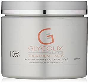 Glycolix Elite 10% Treatment Pads , 60 Count