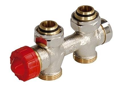 Viessmann Termostato – Combinado bloque Forma Angular para radiadores de baño, conector grifo baño Radiador