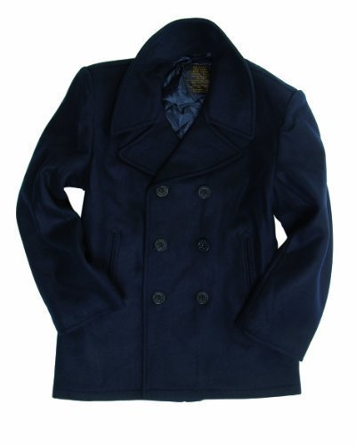 Mil-tec Dark Blue US Navy Pea Coat, SIZE XL (Navy Blue Peacoat)