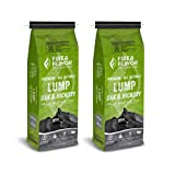 Fire & Flavor Premium All Natural Oak and Hickory Lump Charcoal 8 Pound Bags, Pack of 2