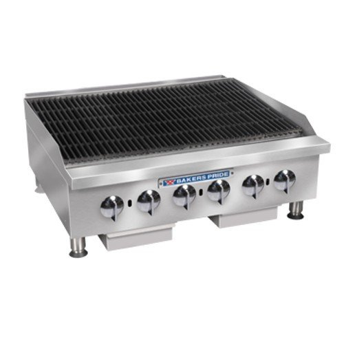 Bakers Pride BPHCRB-2448i Heavy Duty Countertop Glo-Stone Charbroiler Bakers Pride Countertop Charbroiler