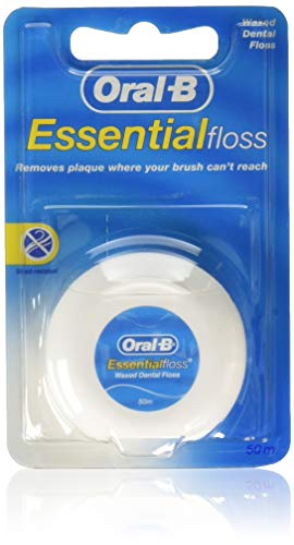 Oral-B Essential Floss | Waxed Dental Floss (Pack of 6)