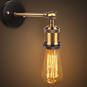 Retro Vintage Wall Lights Fitting Industrial Style Copper Head