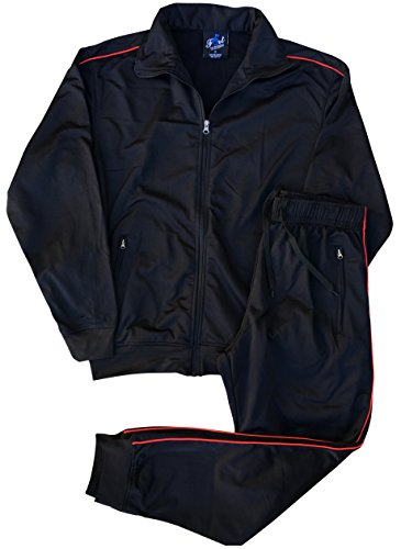 Royal Threads Men Track Pant and Jacket Sweatsuit Jogger Sports Outfit Set