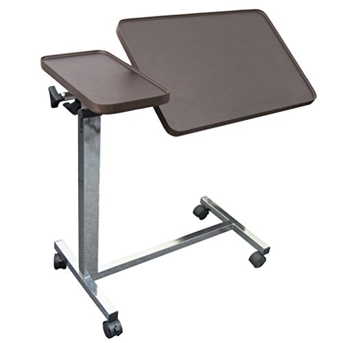 Vaunn Medical Deluxe Tiltable Overbed Bedside Table