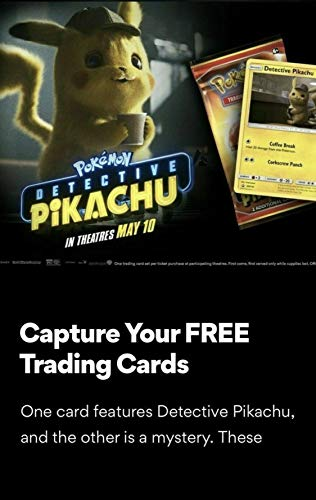 AMC LIMITED Pokémon Detective Pikachu Movie Trading Card Pack - PROMO 2019 NEW