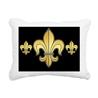 "CafePress - Fleurwdgoldbkmp - 12""x15"" Rectangular Canvas Pillow, Decorative Throw Pillow with Piping, Accent Pillow"