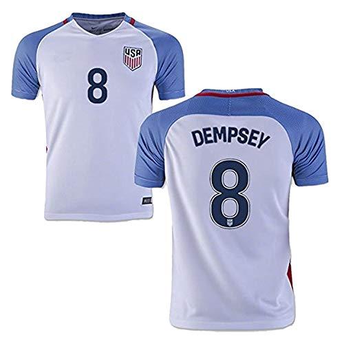 Dempsey Jersey - Xiuxiu DADA 2016 Copa America USA Home Soccer Jersey #8 Dempsey Youth's Football Jersey (White, 11-13Years/size28)