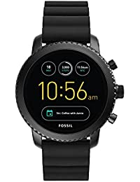 Q Men's Gen 3 Explorist Stainless Steel and Silicone Smartwatch, Color: Black (Model: FTW4005)
