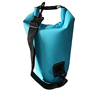 Roll Top Dry Bag - Waterproof Bag for Kayaking, Swimming, Boating, Camping, and the Beach - Air Tight (Blue, 10 Liter)