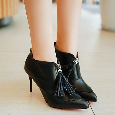 DESY Femme Chaussures Polyuréthane Automne Hiver Confort Bottes Talon Aiguille Bottine/Demi Botte Gland Pour Décontracté Noir ppSlF0