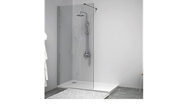 Mampara de ducha fija Single cristal, 80 cm: Amazon.es: Hogar