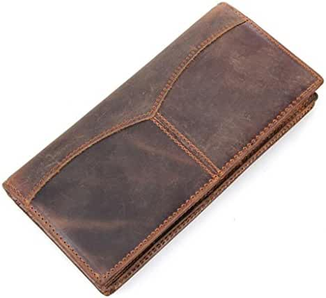 Sellse Men's Long Wallet Bifold Checkbook Travel Wallet