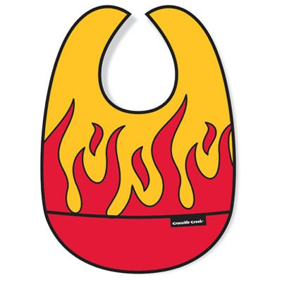 Creek Crocodile Bib (Crocodile Creek - Flame Bib (3208-5))
