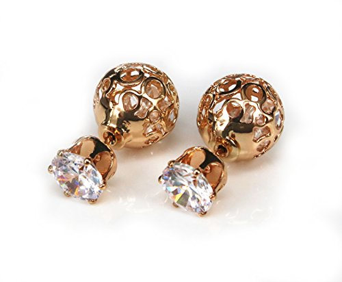 Gold plated copper AAA Cubic Zirconia earrings ()