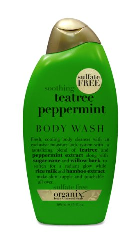 OGX Cooling Body Wash, Soothing TeaTree Peppermint, 13oz