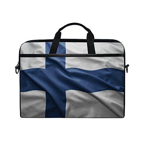(Finland Flag 14 Inch Laptop Shoulder Messenger Bag Case Sleeve Briefcase with Handle for Women)