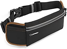 UGREEN Running Belt Pouch Runners Fanny Pack Waist Bag for iPhone X, iPhone 8, iPhone 7 Plus, iPhone 6S 6 Plus, Samsung...