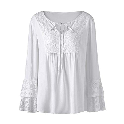 [XL-5XL] レディース Tシャツ 大きなサイズ レース ステッチング 長袖 トップス おしゃれ ゆったり カジュアル 人気 高品質 快適 薄手 ホット製品 通勤 通学
