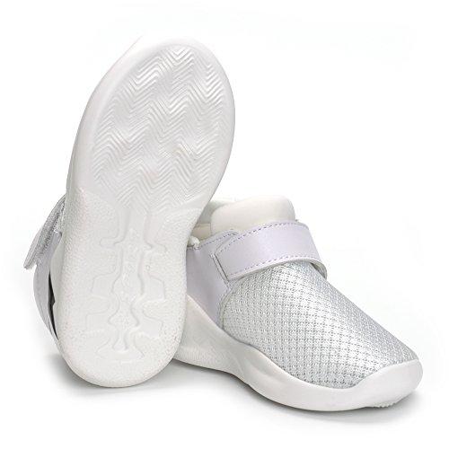 MK MATT KEELY Kids Mesh Running Sneakers Baby Boys Girls Anti-Slip Casual Shoes White 26 by MK MATT KEELY (Image #6)